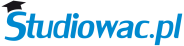 Studiowac.pl logo niebieskie waskie bez tla 1000x250px