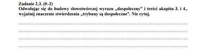 Przykładowy arkusz CKE, Matura język polski 2015 (fot. CKE)