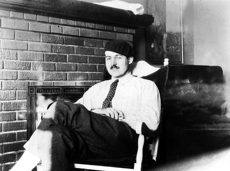 Ernest Hemingway w Paryżu, ok. 1924 rok (fot. Flickr.com)