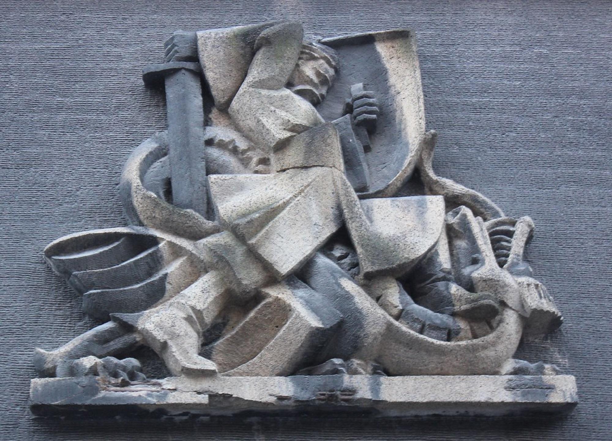 Św. Jerzy na detalu krakowskiej kamienicy (fot. Wikipedia)