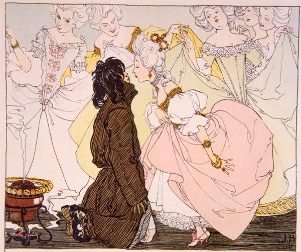 Ilustracja Heinricha Leflera z 1897 roku do Świniopasa Andersena (fot. Wikipedia)