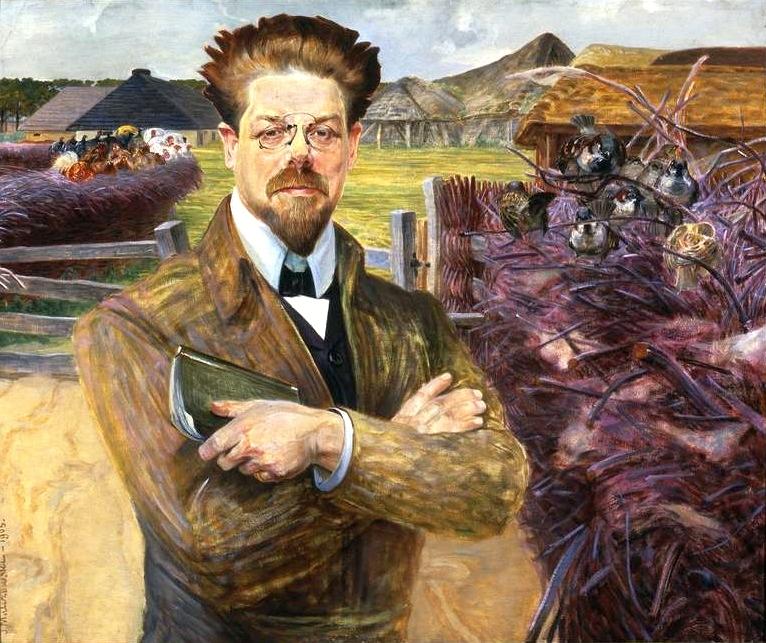 Portret Władysława Reymonta namalowany w  1905 roku przez Jacka Malczewskiego (fot. Wikipedia)