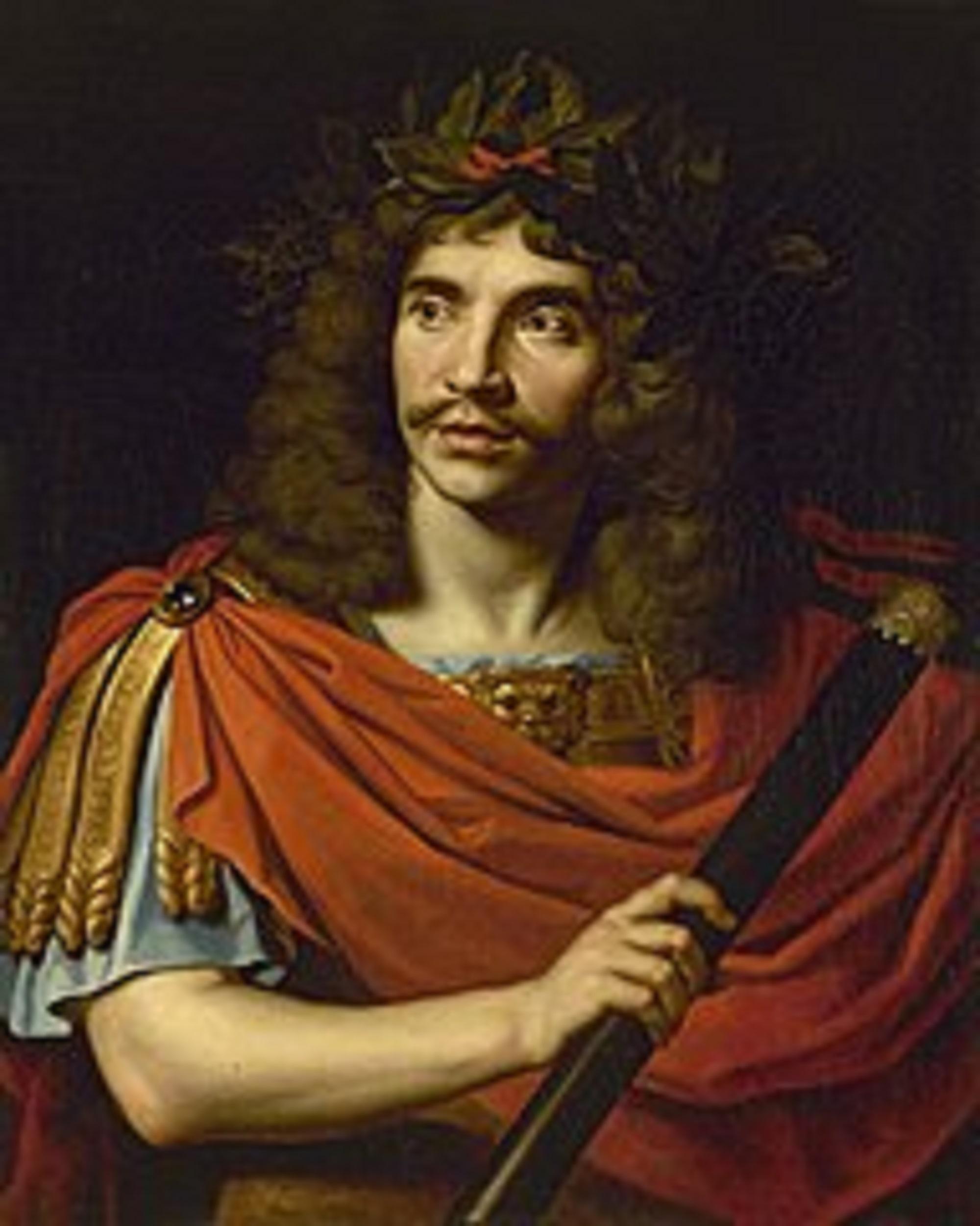 Portret Moliera Nicolasa Mignarda namalowany w 1658 roku (fot. Wikipedia)
