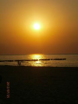 Nasze Morze Bałtyckie i piękny zachód słońca ;)